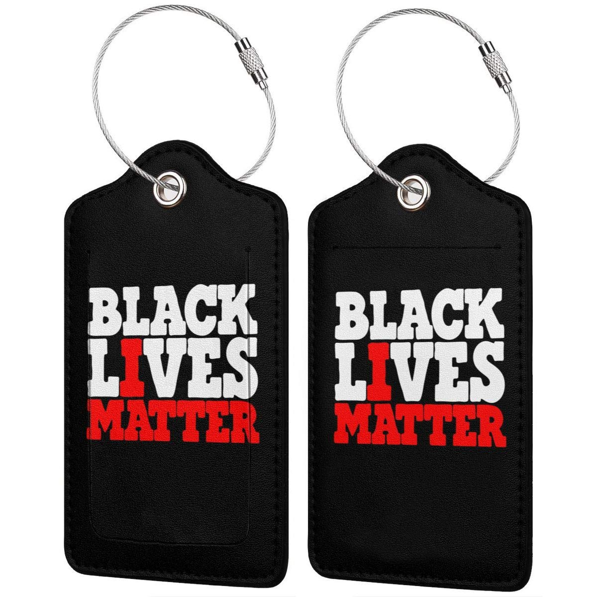 BLACK LIVES MATTER Leather Luggage Tag Travel ID Label For Baggage Suitcase