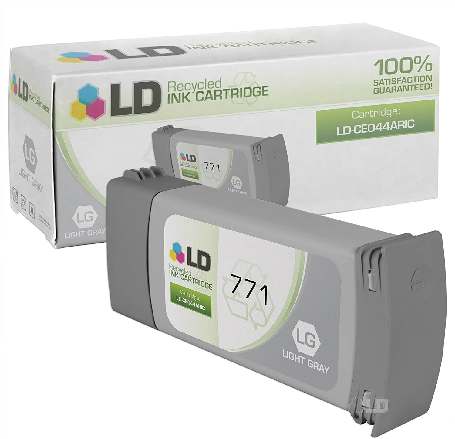 LD Remanufactured Ink Cartridge Replacement for HP 771 CE044A (Light Gray)