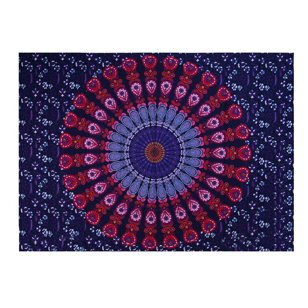AkoMatial Mandala Tapestry Indian Style Printing Pattern Hippie Tapestry Wall Hanging Yoga Beach Blanket Home Decor
