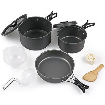 forfar – Kit de utensilios de cocina, cocina de campaña, ligero portátil Picnic Bowl