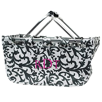 AJUSEN Insulated Folding Cooler Picnic Basket Bag Picnic Backpack (Black)