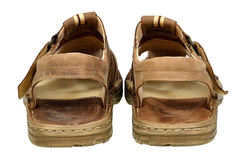 Lukpol Calzature Vera Pelle di Bufalo Scarpe Ortopediche Comodi Sandali da Uomo Modello-867