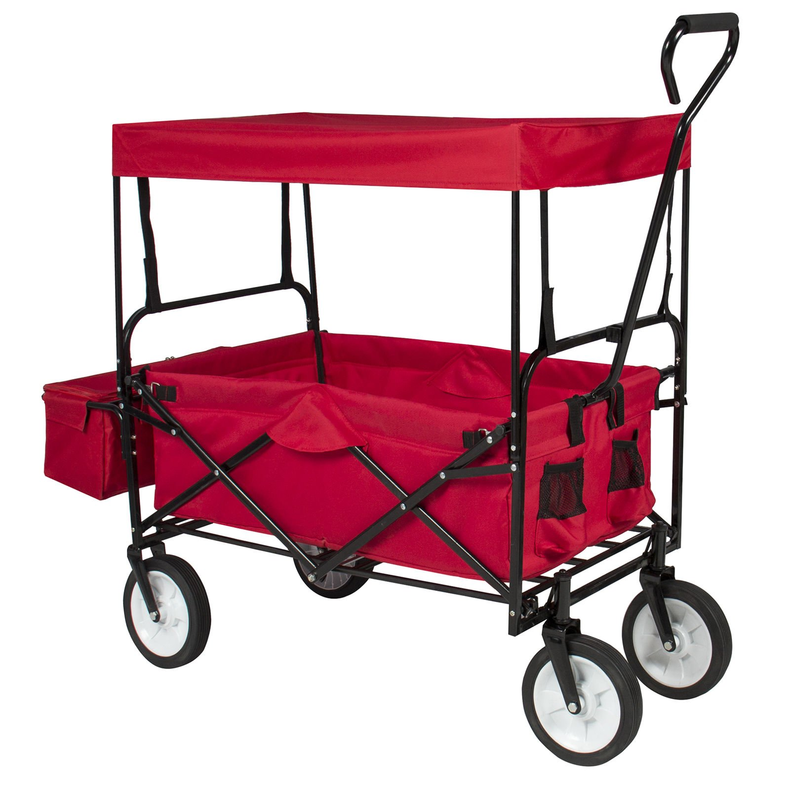 Garden Cart Utility Wagons Scooters with Removeable Canopy Patio Lawn Farm Ranch Material Transport Replacement Part Service Beach Camping Grocery Handling Equipment Folding Utility Home Improvement by Prettyshop4246
