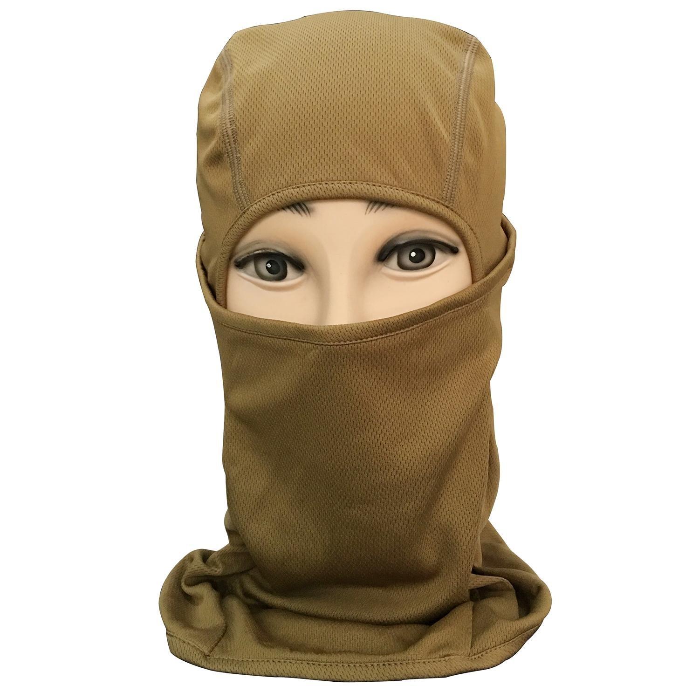 Pawaca Men Women Windproof Balaclawa Ski Face Mask for Motorcycle, Skiing, Tactical, Snowboard, Cycling(Black)