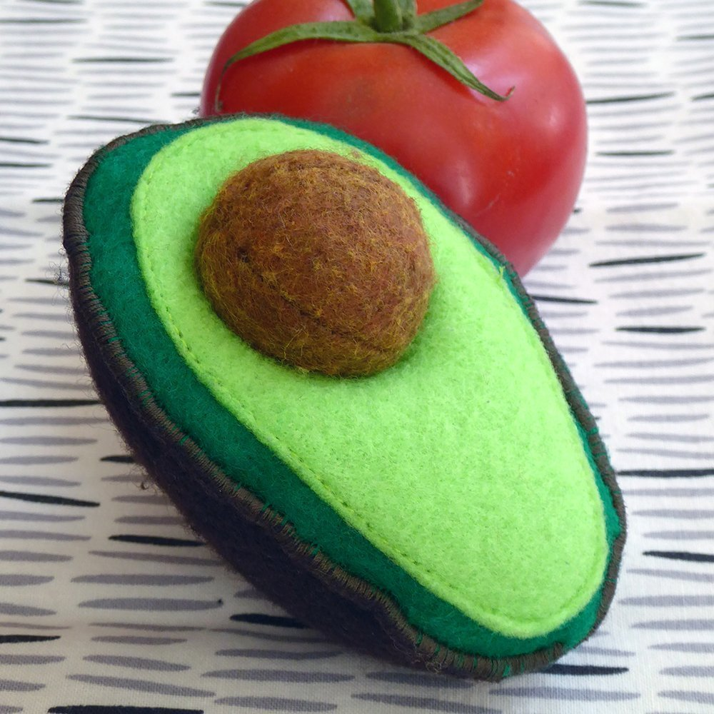 Felt Avocado, Removable Seed