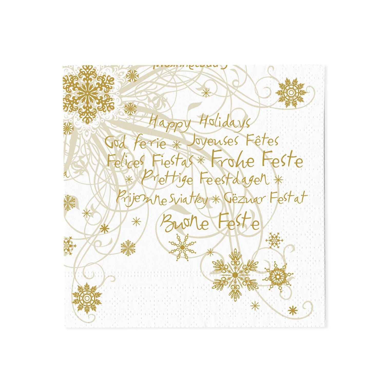 Bianco 16 pezzi 3 strati 33 x 33 cm Tovaglioli di carta monouso