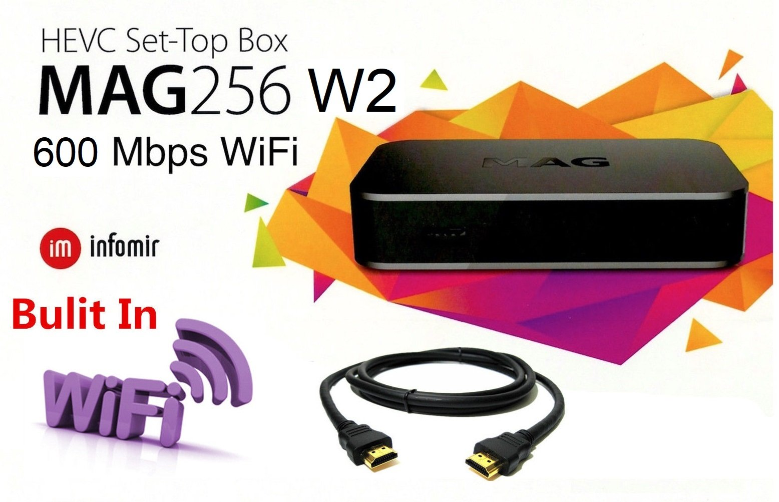 MAG 256 W2 Media Player (HEVC H 265) With Built-In 600Mbps