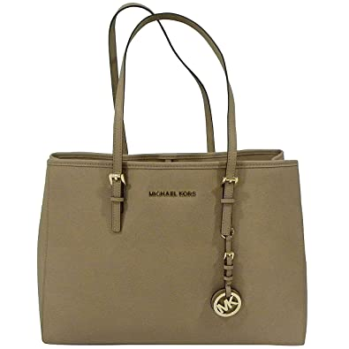 890955075be9 Amazon.com  Michael Kors Jet Set Travel East West Tote in Dark Khaki  Shoes