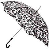 Paraguas Mujer Largo con Estampado en Negro y Rojo. Paraguas Vogue
