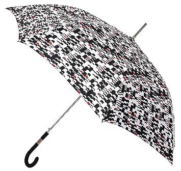 Paraguas Mujer Largo con Estampado en Negro y Rojo. Paraguas Vogue: Amazon.es: Equipaje