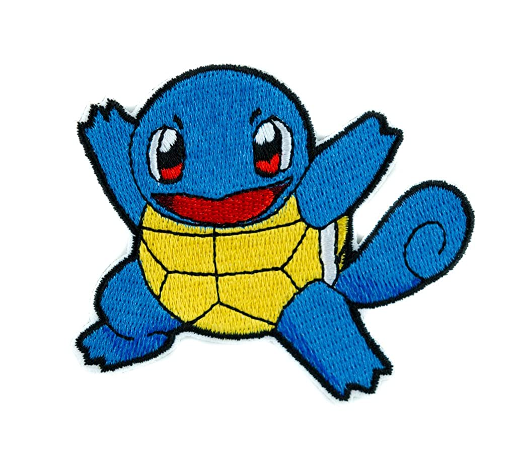 Squirtle Pokemon Go Trainer Patch Iron on Applique Alternative Clothing