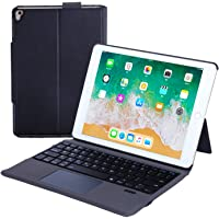 Rimposky iPad Keyboard Case Touchpad Function for iPad 7th Generation (10.2 inch 2019)/iPad Air 3rd Generation 10.5 2019/iPad Pro 10.5 2017-Stable Touchpad Function-iPad 7th Generation Case with Keyboard