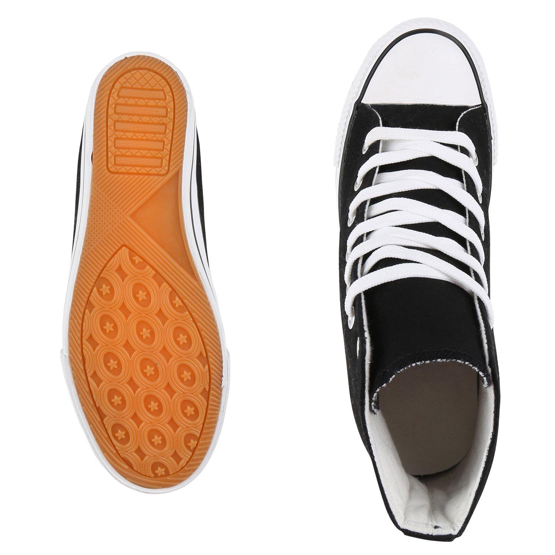 schuhe VITA Keilabsatz Damen Sneaker Wedges mit Keilabsatz VITA Basic Schwarz Weißs 7d95b2