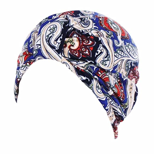 Amazon.com: Ximandi Turban Hats, Women Muslim Stretch Chemo ...