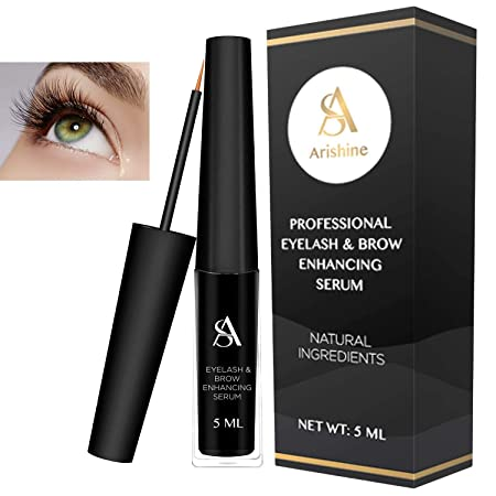 Arishine Eyelash Growth Serum, Eyebrow Growth Serum, Natural Eyelash Growth Enhancer and Brow Serum