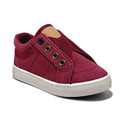 Toddler Boys Scott Cross Strap Canvas Sneakers, Elastic, no shoelaces, casual tennis