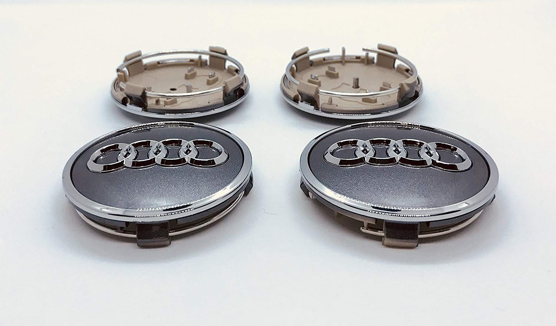 S Line Quattro and other models BBSS SET OF 4 AUDI 62mm ALLOY WHEEL CENTER HUB CAPS CAP GREY /& CHROME LOGO A1 A2 A3 A4 A5 A6 A7 A8 S4 S5 S6 S8 RS Q3 Q5 Q7 TT item number 4M0 601 170 JG3