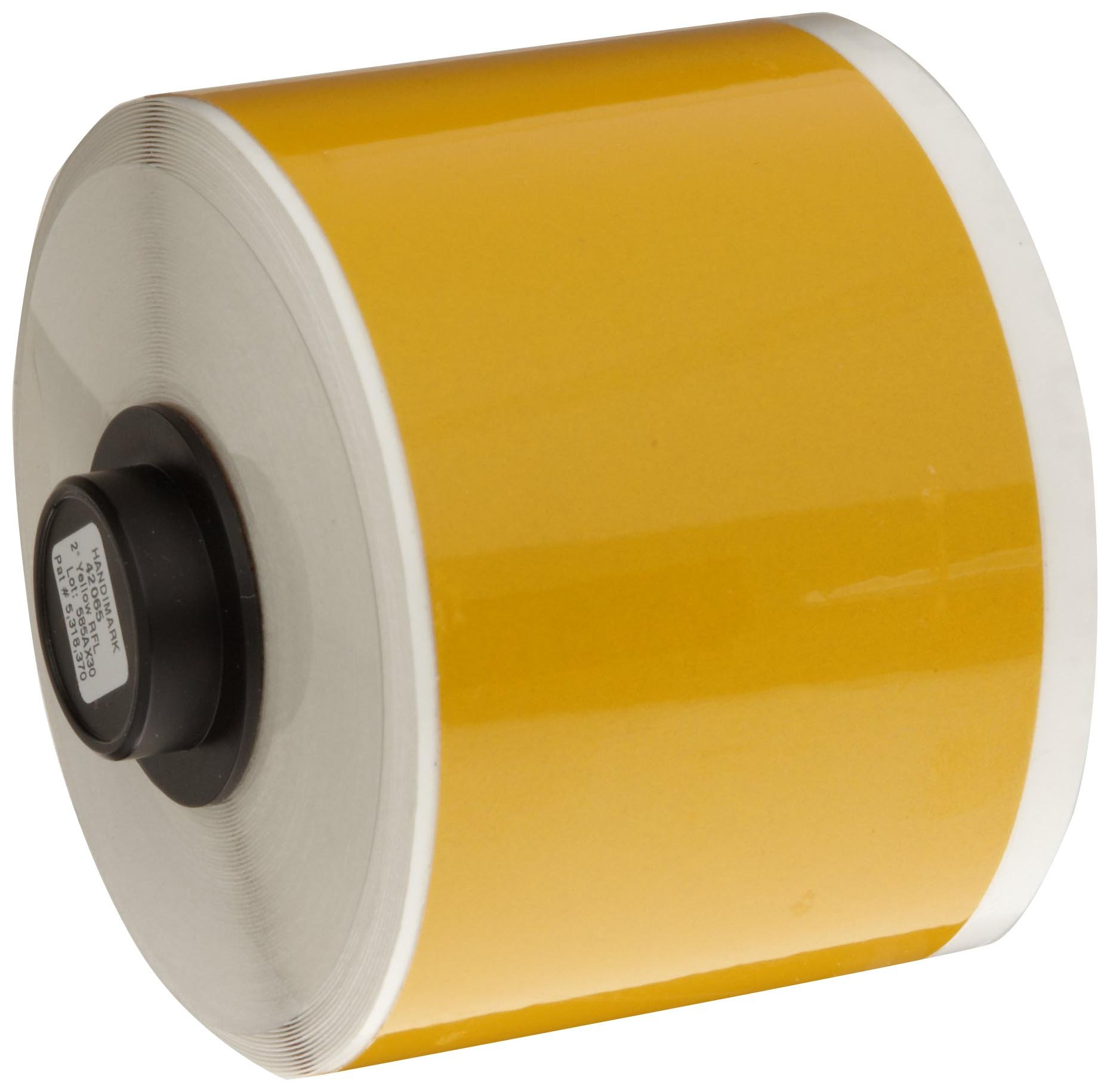 Brady Reflective HandiMark 33' Length 2'' Width, B-584 Sheeting Yellow Color Tape