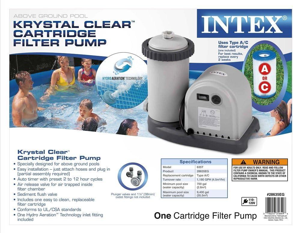 Intex 56635E 1,500-Gallon Filter Pump: Amazon.es: Jardín