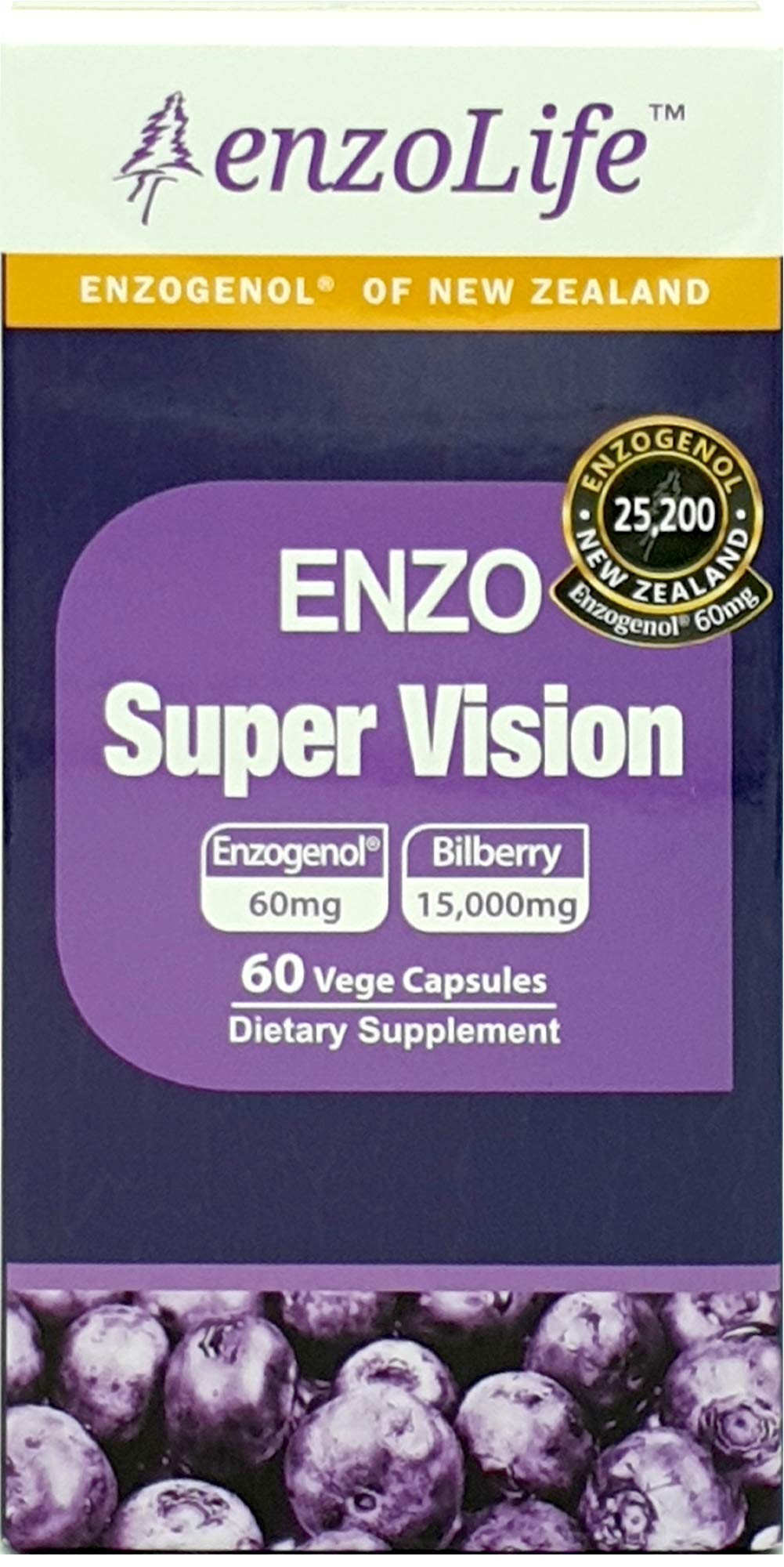 Supports Eye Health – Super Vision Bilberry Extract 60Capsule New-Zealand (1 Bottle)