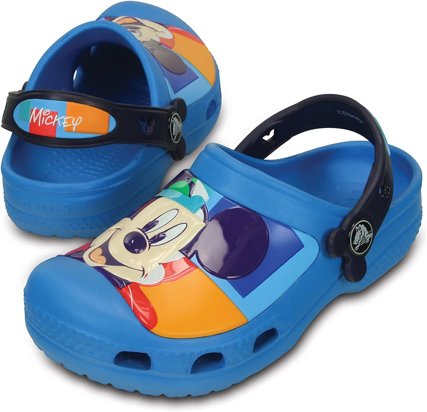 New-Crocs-CC-Mickey-Lined-Clog-roomy-fit-childrens-203532-black-glows-in-dark