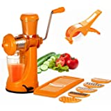 Slings Plastic Juicer, Slicer and Cutter (Colour May Vary) - Set of 3