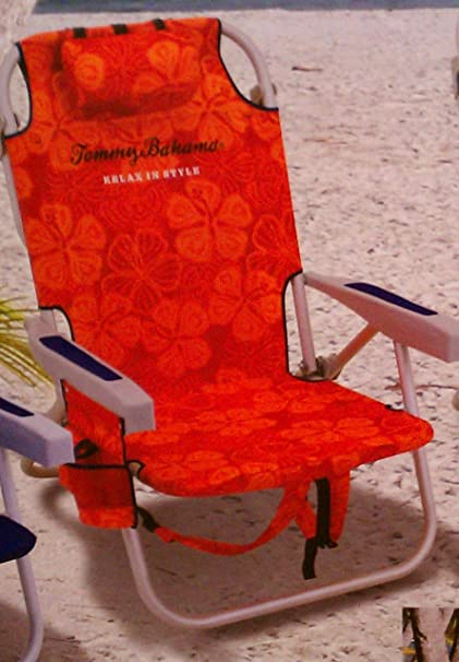 Tommy Bahama Backpack Cooler Beach Chair   Red/Orange