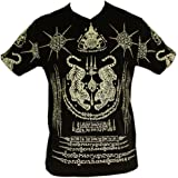 Tiger yantra t-shirt ancien, cambodge schutzsymbole khmer motif tattoo