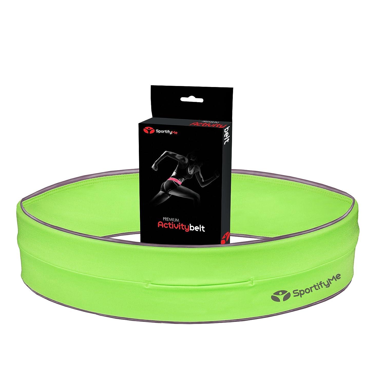 #1 Reflex-Laufgürtel–Premium-Laufgurt-Flipp-Workout-Gürtel - REISSVERSCHLUSS-Option Fitness-Gürtel besser als iPhone Armband - Reflex-Bänder & Logo Bauchgürteltasche für Schlüssel, Karte, Iphone 6 SportifyMe