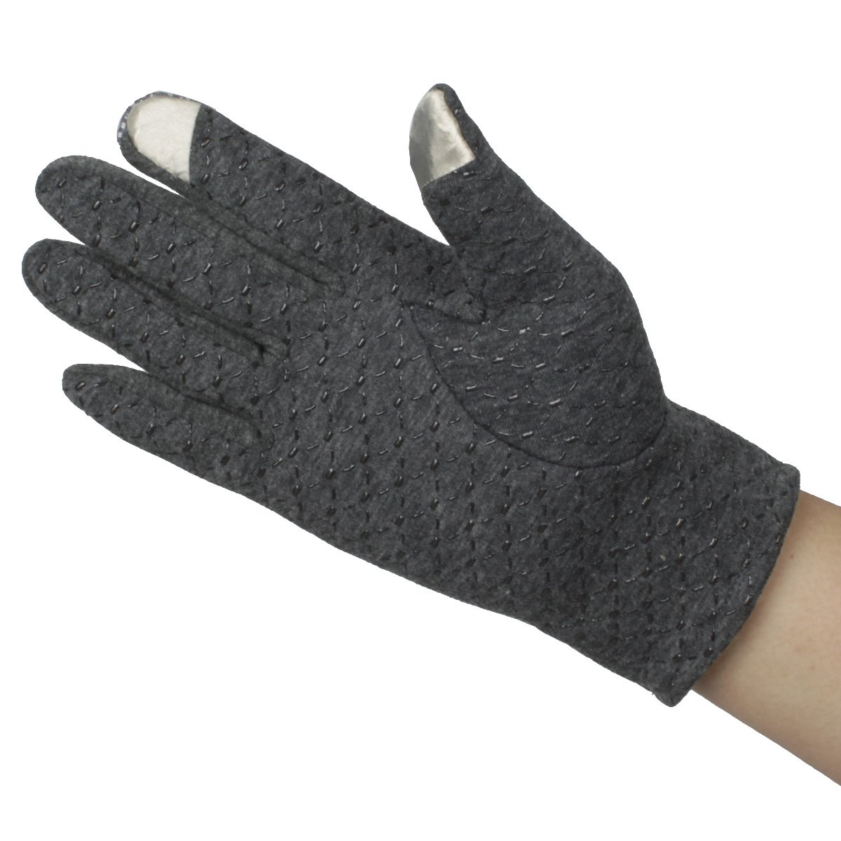 Mandys Mens Autumn Winter Plush Lining Driving Gloves Touch Screen