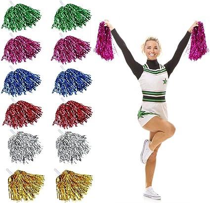 Pom Poms Cheerleader BLAU Pompoms B�schel Party