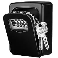 [Wandmontage] Schlüsseltresor, Diyife® Kombinationsschlüssel Safe Speicher Verschluss Kasten für Haus Garagen Schule Ersatz Haus Schlüssel - Schwarz