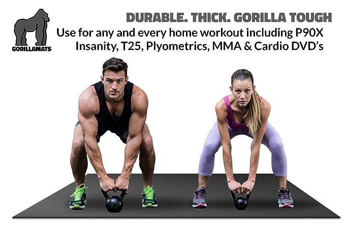 Premium Extra Large Exercise Mat - 10' x 4' x 1/4