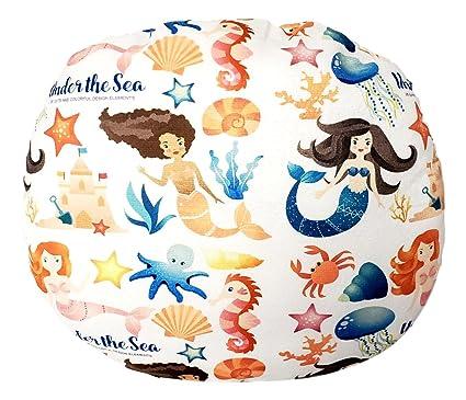 Swell 101 Beach Plush Mermaid Print 12 Inch Round Pillow Mermaids 2 Undersea Machost Co Dining Chair Design Ideas Machostcouk