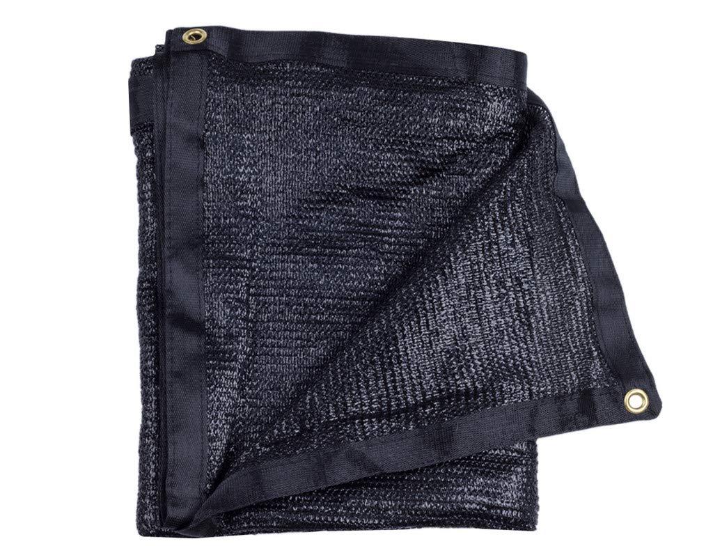 e.share 40% 20'X 48' Black Shade Cloth Taped Edge with Grommets Sun Mesh Shade Sunblock Shade Sail