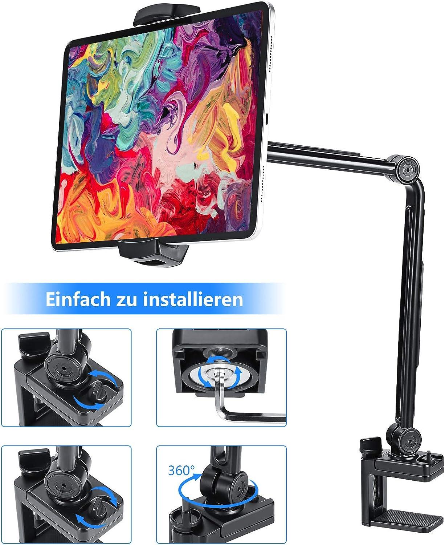 MEKUULA St/änder Tablet Halter Schwanenhals Tablet Halterung,Handy Halter Lazy Flexible 360 /° drehbare verstellbare Lange Armst/änder f/ür iPad Air 3 Mini 4 Galaxy Tab MediaPad 6 iPhone 12 Pro usw