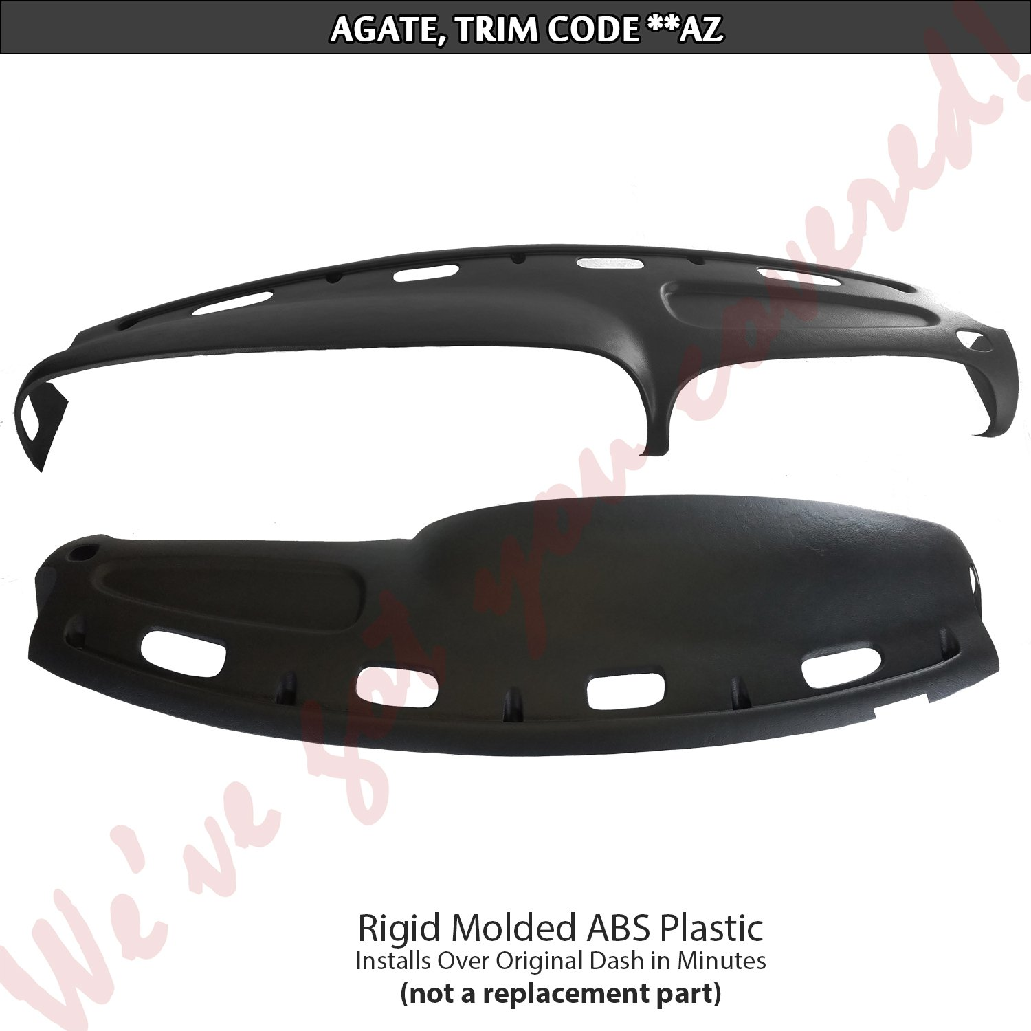 DashSkin Molded Dash Cover Compatible with 98-01 Dodge Ram in Agate
