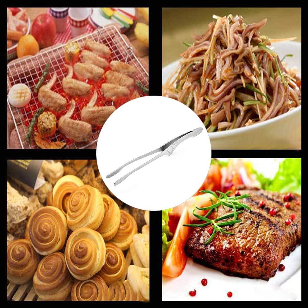 3,2 cm Sarplle Pinza per Barbecue Acciaio Inossidabile Ergonomia Pinzette per Barbecue Pinza per Cottura Lavabile in lavastoviglie 26,5