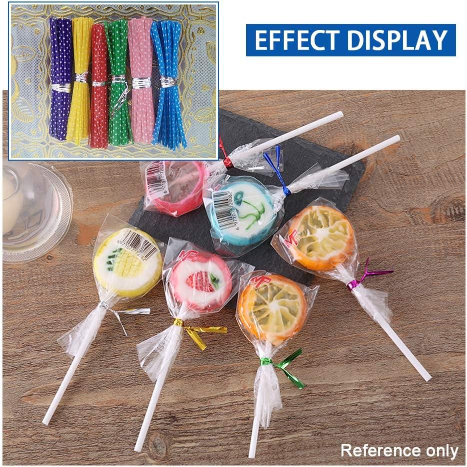 Multicolore YOFASEN Lien Torsad/é Dot Attache Lien 600PCS Twist Tie en Fil de Fer d/Étanch/éit/é pour Sac pour les Pains//Biscuits//G/âteaux//Bonbons