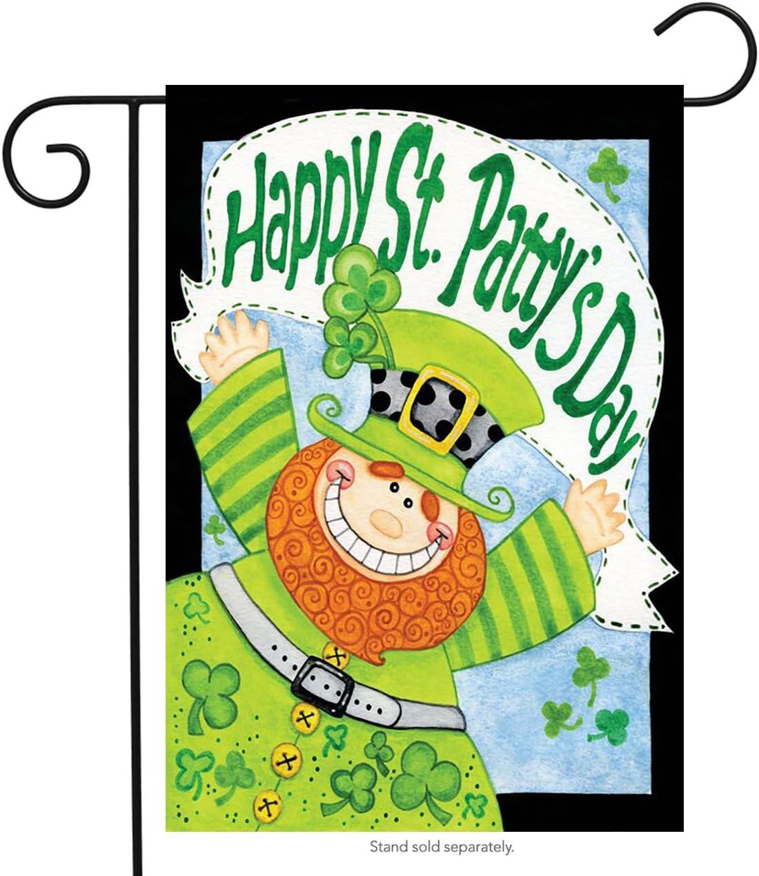 "Briarwood Lane Happy Leprechaun St. Patrick's Day Garden Flag 12.5"" x 18"""