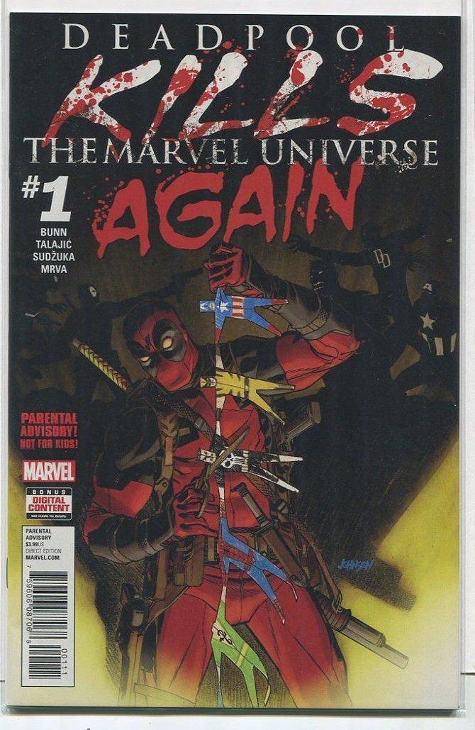 Deadpool KillsThe Marvel Universe Again #1 NM Marvels Comics MD12