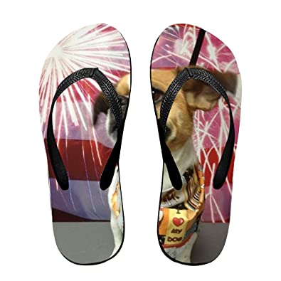 6c64940611ecb Ltgyth 4th of July Unisex Flip Flops Sandal for Women Men Cool Beach Slipper