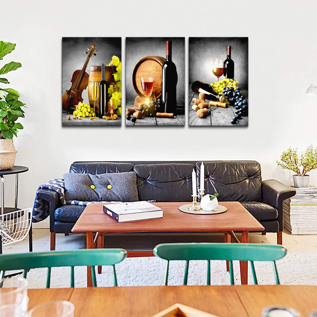 ArtWall Dean Uhlinger 4 Piece Pampas in Relief Gallery-Wrapped Canvas Set 24 by 32