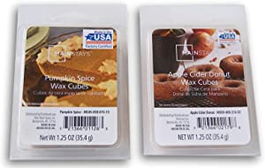 Seasonal Decor Mainstays Autumn Scents Wax Cubes Bundle - Pumpkin Spice and Apple Cider Donut