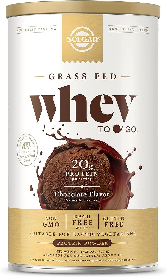 Solgar Whey To Go Proteína de suero en polvo (Sabor chocolate ...