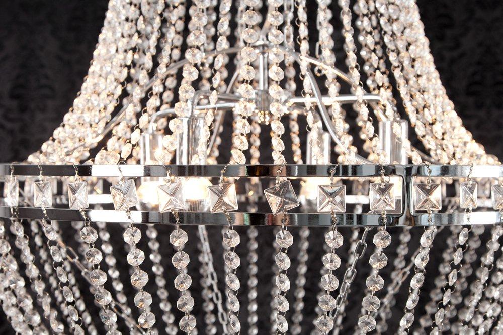 Kronleuchter Deckenlampe Lampe Kristall Strass Hängelampe Designer Lüster Led ~ Exklusive design hängelampe kronleuchter strass chrom