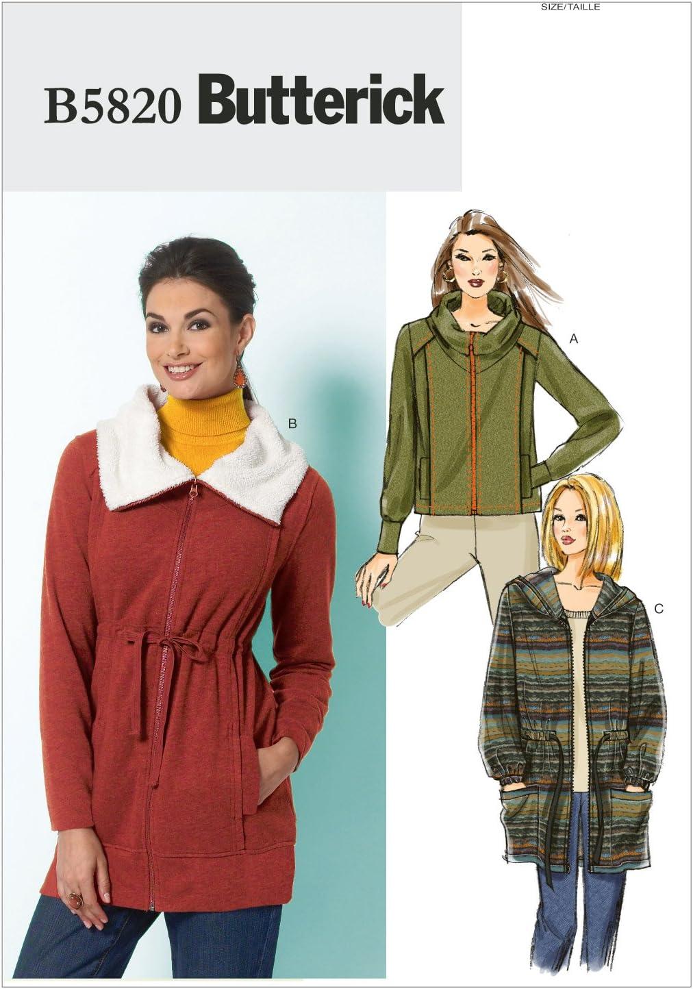 Shirts E5 Butterick Sewing Pattern 6563 Tops 14-16-18-20-22