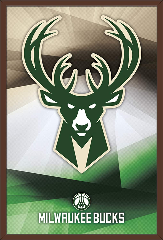 Amazon Com Trends International Milwaukee Bucks Logo Wall