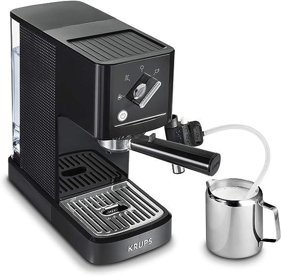 Krups Calvi Latte XP345810 cafetera espresso con accesorio para capucchino,15 bares de presión, sistema de regulación térmica, capacidad de 1 litro, selección manual mayor control del resultado final: Amazon.es: Hogar