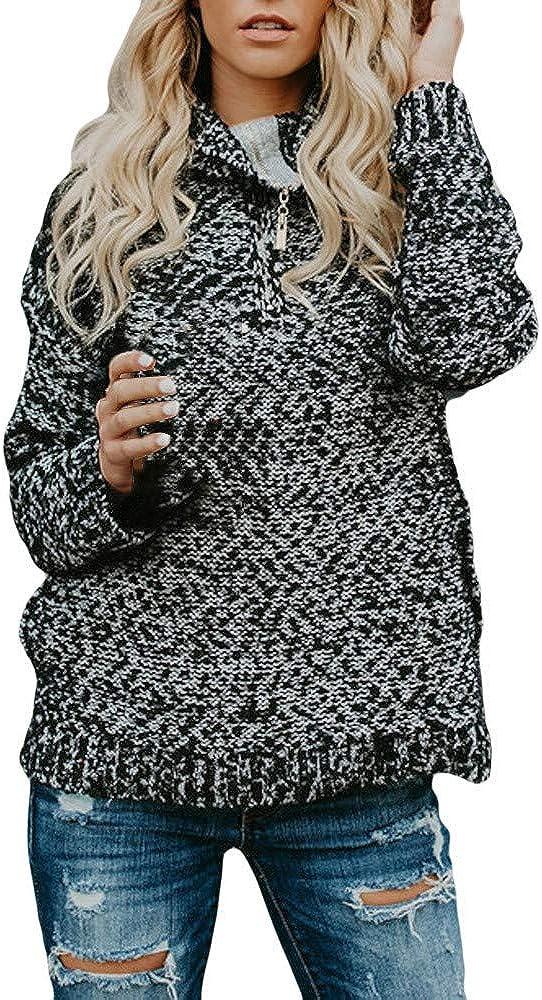 Damen Pullover Sweatshirt Cardigan Ronamick Schulterfrei Lange /Ärmel Langarm Regenbogen Streifen Casual Stricken Strickpulli Strickjacke Strickpullover